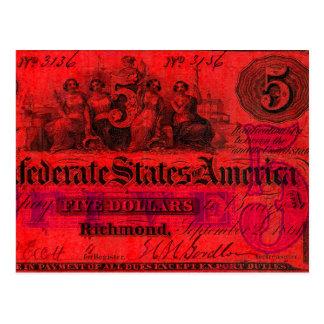 Confederate Red postcard