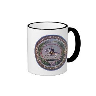 Confederate Seal Coffee Cup 2 Coffee Mugs