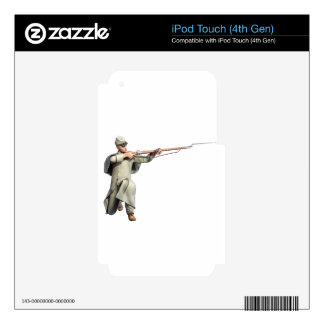 Confederate Soldier Guard with Rifle Kneeling iPod Touch 4G Skin