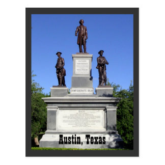 Confederate Soldiers- Austin, Texas Postcard