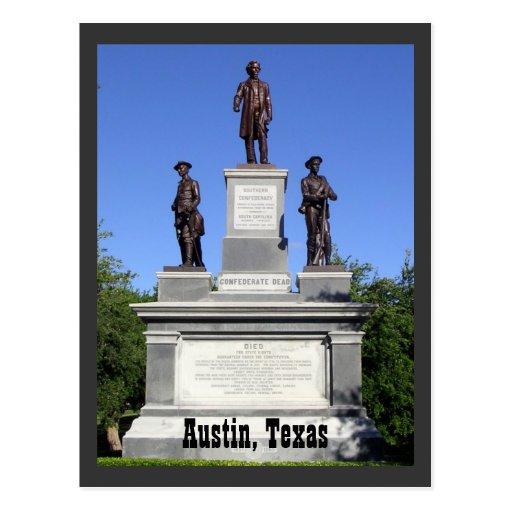 Confederate Soldiers, Austin, Texas Postcard