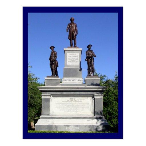 Confederate Soldiers Statue-State Capitol, Austin Postcard