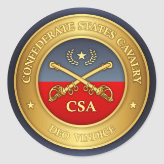 Confederate States Cavalry (rd) Classic Round Sticker