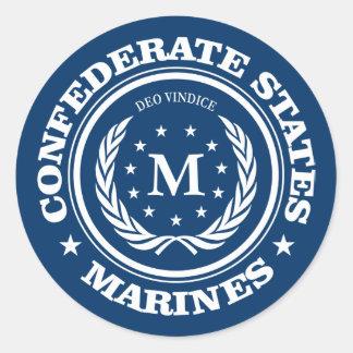 Confederate States Marines Classic Round Sticker