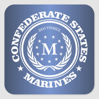 Confederate States Marines Square Sticker