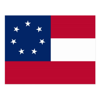 Confederate States of America Flag Postcard