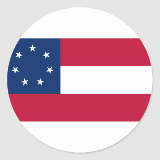 Confederate States of America Flag Classic Round Sticker