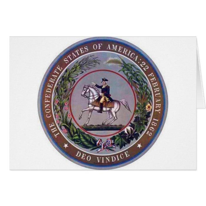 Confederate States of America Seal Card