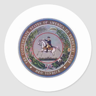 Confederate States of America Seal Classic Round Sticker