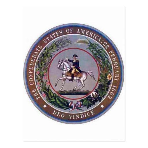 Confederate States of America Seal Postcard