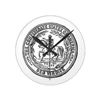 Confederate States of America Wall Clock