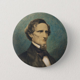 Confederate States President Jefferson Davis Button
