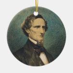 Confederate States President Jefferson Davis Christmas Tree Ornament