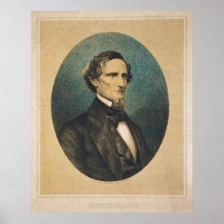 Confederate States President Jefferson Davis Poster