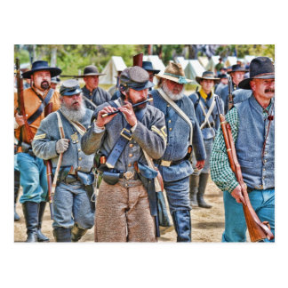 Confederates Marching To Battle Postcard