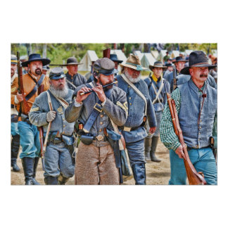 Confederates Marching To Battle Poster