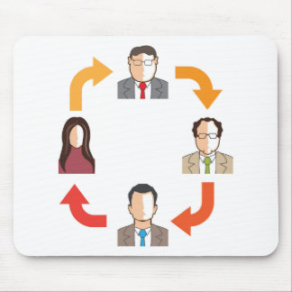 Conference circle mouse pad