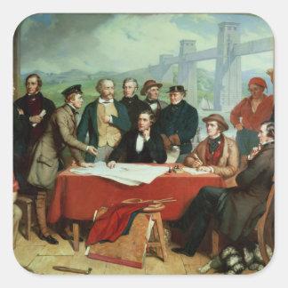Conference of Engineers at Britannia Bridge Square Sticker