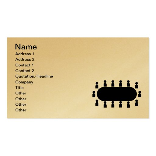 conference_Vector_Clipart Business Card Template