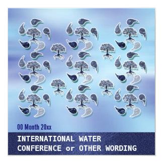"""Conferencia de la energía del ambiente del agua invitación 5.25"""" x 5.25"""""""