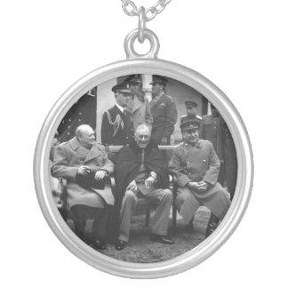Conferencia Roosevelt Stalin Churchill 1945 de Colgante Redondo