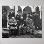 Conferencia Roosevelt Stalin Churchill 1945 de Yal Póster