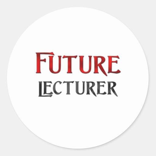 Conferenciante futuro etiqueta