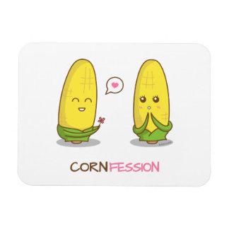 Confesión divertida linda del amor del maíz de imanes de vinilo