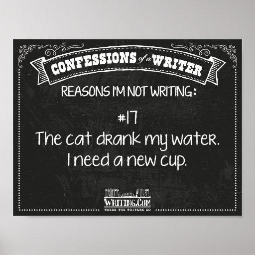 Confesiones de un escritor: Razón #17 Póster