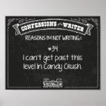 Confesiones de un escritor: Razón #34 Posters