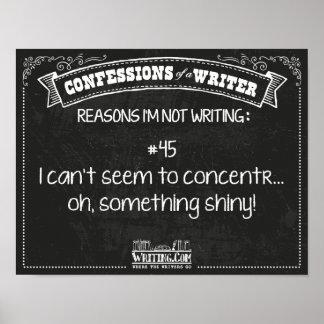 Confesiones de un escritor: Razón #45 Poster