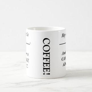 Confesiones del café taza básica blanca