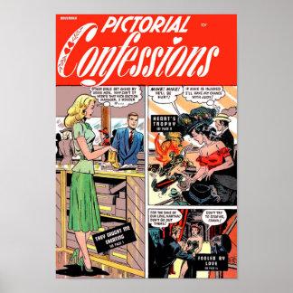 ¡Confesiones ilustradas - me cogieron que engañaba Póster