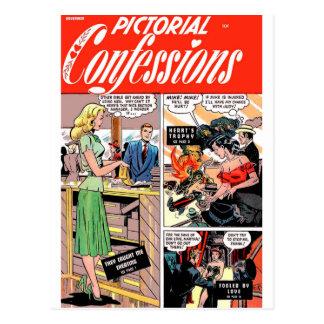 ¡Confesiones ilustradas - me cogieron que Tarjetas Postales