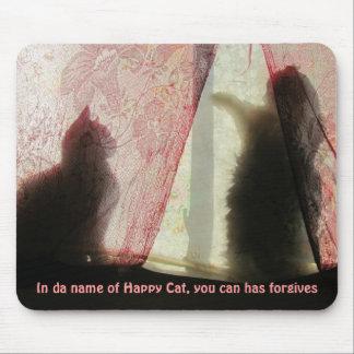 confesonario del gato del lol alfombrilla de ratones
