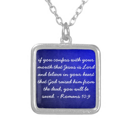 confess believe be saved Christian Necklace