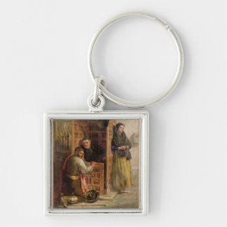 Confession, 1862 (oil on canvas) keychain