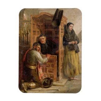 Confession, 1862 (oil on canvas) magnet