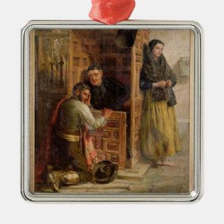 Confession, 1862 (oil on canvas) metal ornament