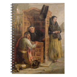Confession, 1862 (oil on canvas) notebook