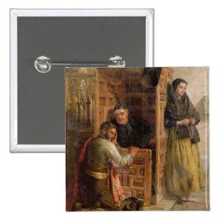 Confession, 1862 (oil on canvas) pinback button