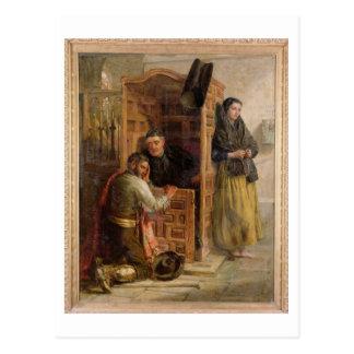 Confession, 1862 (oil on canvas) postcard