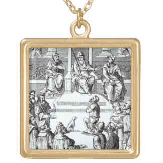 Confession for amends before the tribunal, after a gold plated necklace
