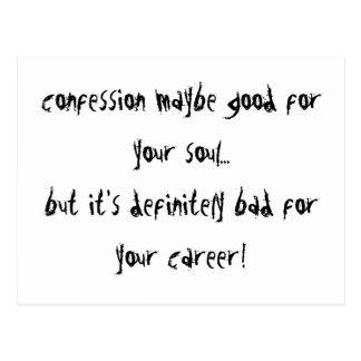 Confession Postcard