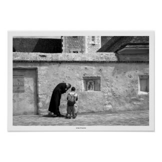 Confession - Whit Monday at Chartres Cathedral Poster