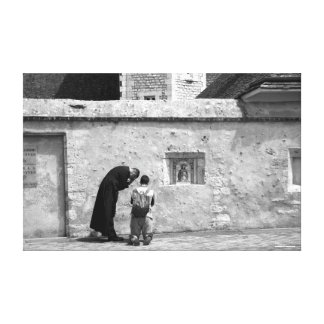 Confession - Whit Monday Chartres Cathedral Canvas Gallery Wrapped Canvas