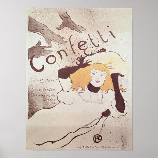 Confeti, 1893 póster