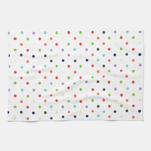 Confeti colorido del fiesta del lunar toalla de mano