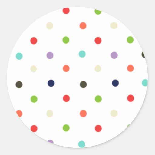 Confeti colorido del fiesta del lunar etiquetas redondas