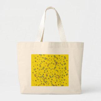 Confeti colorido en amarillo bolsa de mano